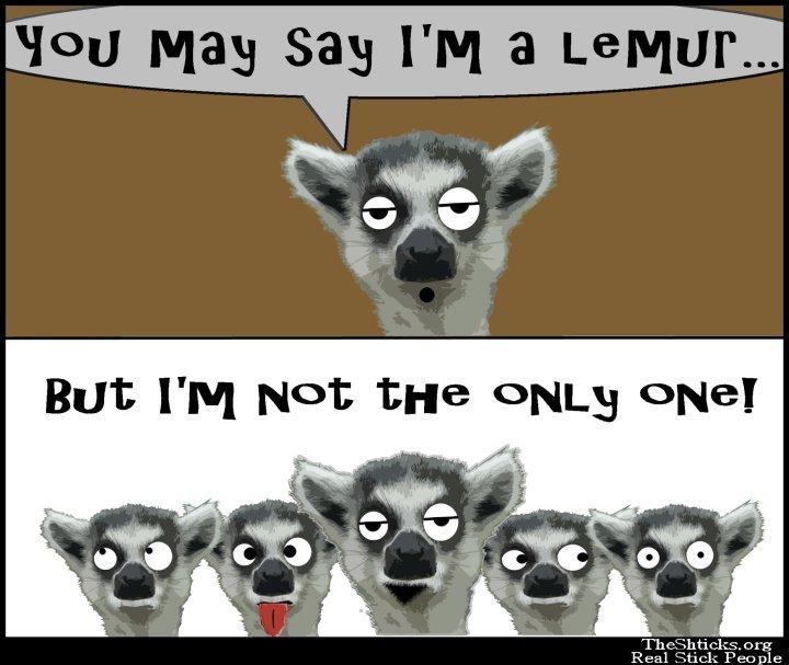 You may say I'm a lemur 4The Shticks