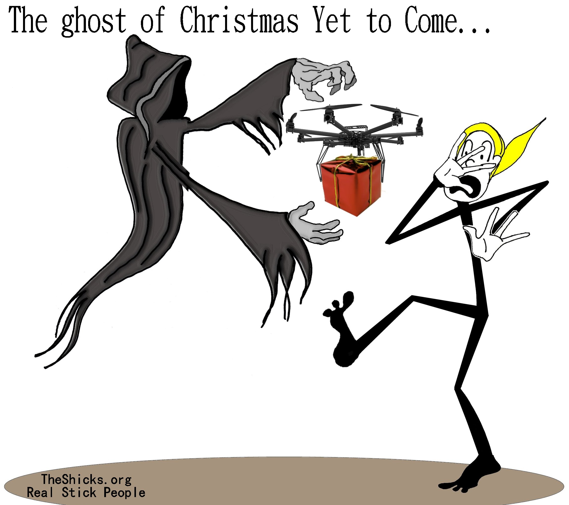 Ghost Of Christmas Yet To Come.The Ghost Of Christmas Yet To Come