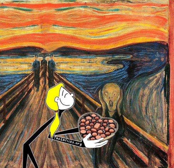 The Scream The Shticks Valentine's Day