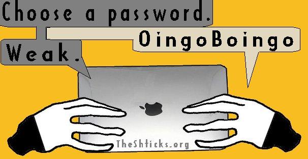 Passwords 3 The Shticks