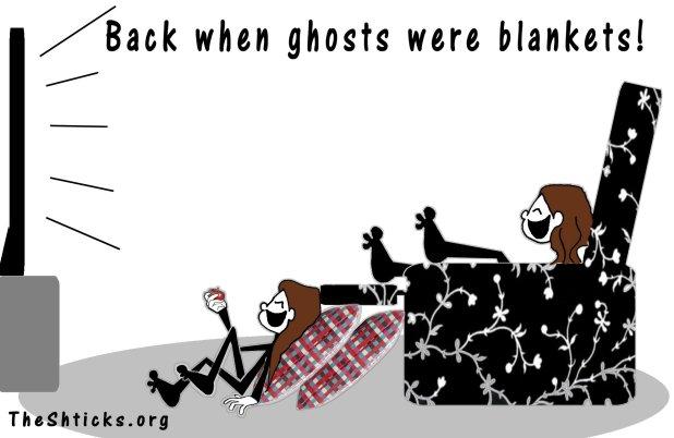 When ghosts were blankets 4