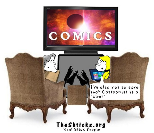 Who made our comics 3 The Shticks