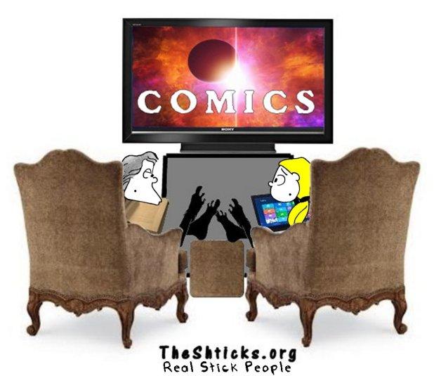 Who made our comics 4 The Shticks