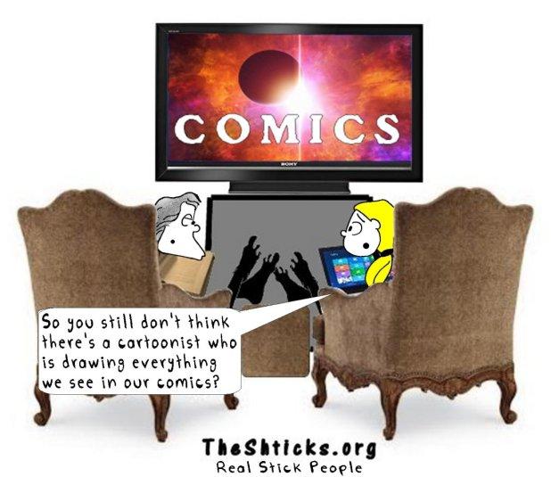 Who made our comics The Shticks
