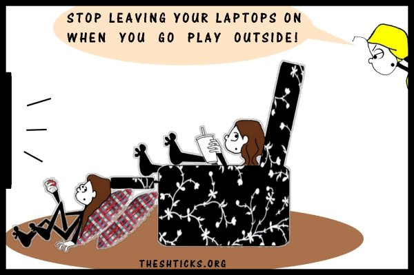 Turn your laptops off when you walk away 4 The Shticks