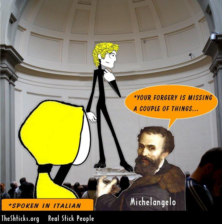 Michelangelo David The Shticks