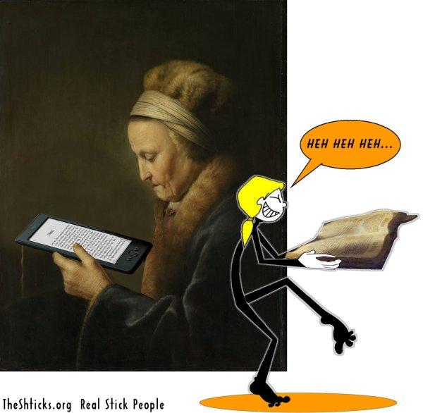 Old Woman Reading Gerrit Dou The Shticks