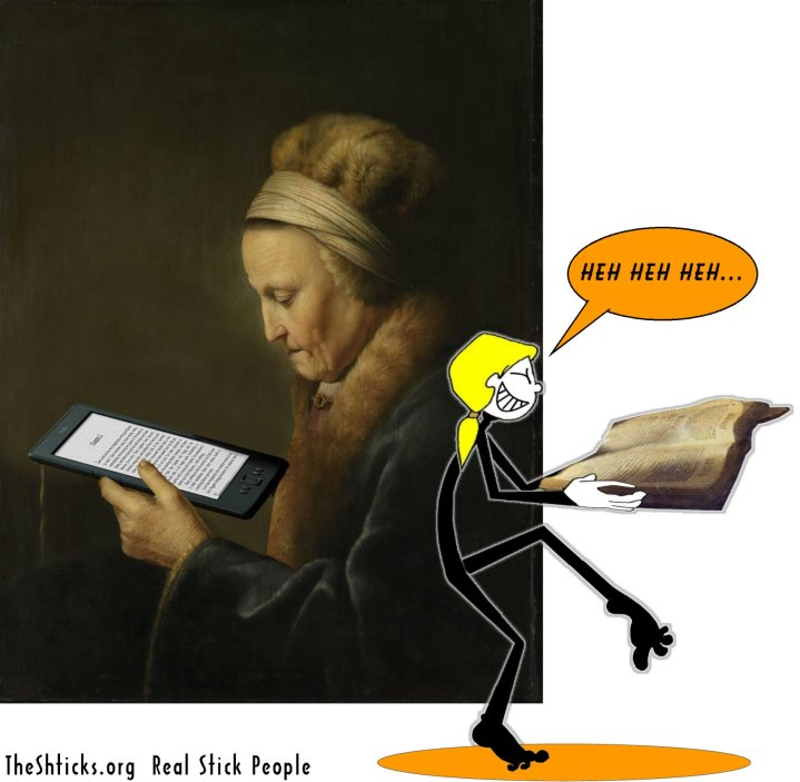 Old Woman Reading Gerrit Dou The Shticks