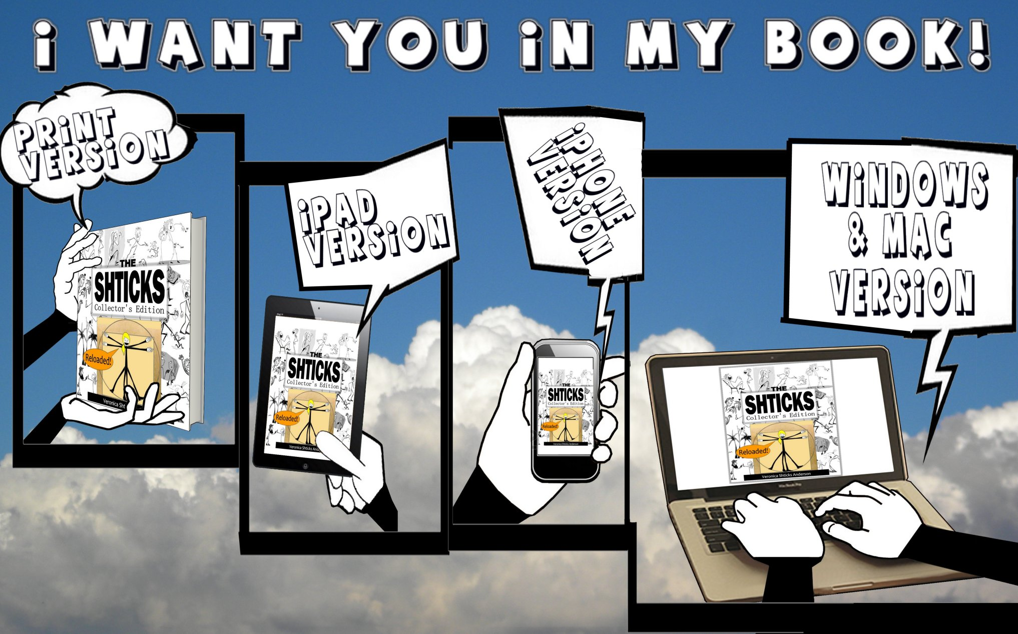 I want you in my book WordPress version